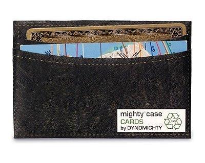 Portão Cartão Mighty Case Couro Preto