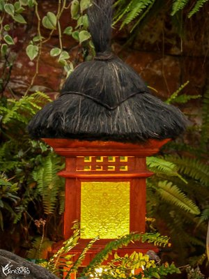 Luminária Casa Chinesa p/ Jardim 60cm