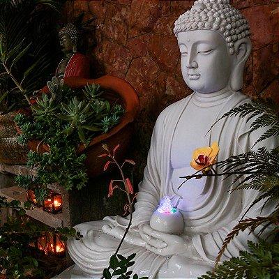 Fonte p/ Decoração de Jardim Buda 90cm