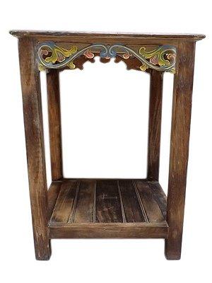 Mesa de Canto em Madeira 65x32cm - Bali