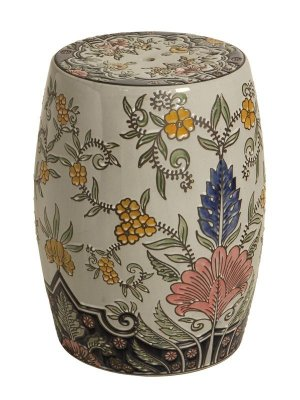 Garden Seat de Porcelana - Floral