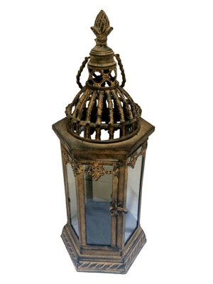 Lanterna Marroquina Rústica p/ Velas 49cm