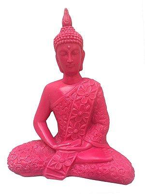 Escultura Buda Tailandês em Marmorite 23cm