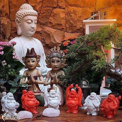 Esculturas Happy Buda p/ Decoração - Kit