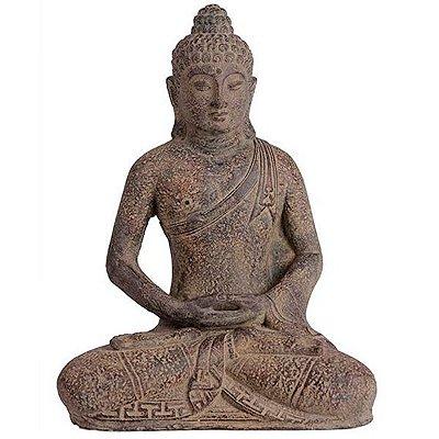 Escultura Buda em Pedra 30cm - Bali