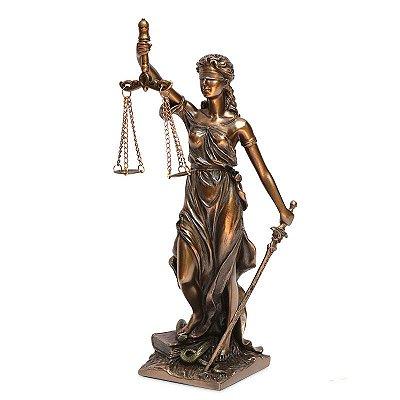 Escultura Dama da Justiça 30cm