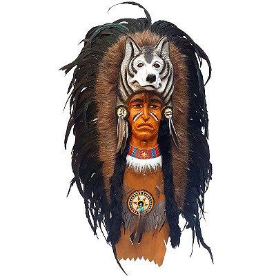 Máscara Índio Sioux em Fibra - Bali