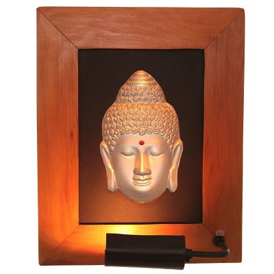 Quadro Iluminado Buda 3D - Silver