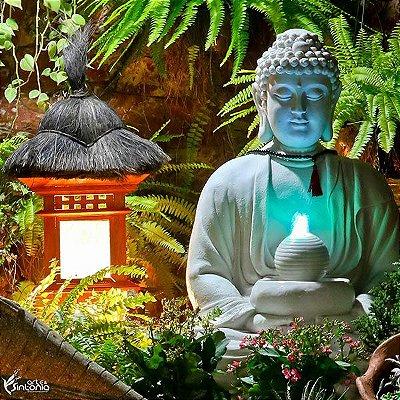 Fonte Buda p/ Decoração de Jardim 85cm