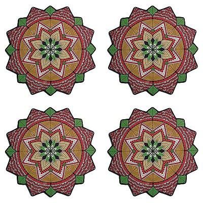 Jogo de Sousplat Mandala Shakti - 4 un