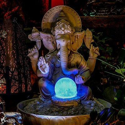 Fonte de Ganesh em Marmorite 33cm