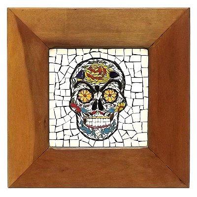 Quadro Mosaico Caveira Mexicana