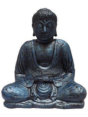 Escultura Buda Cimento Jardim 30cm