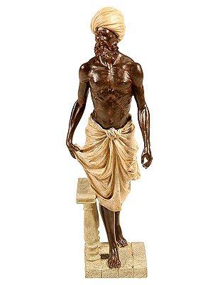 Escultura Servo Indiano em Resina 43cm