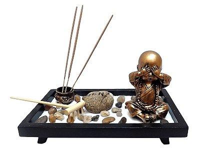 Jardim Zen e Incensário Monge Budista