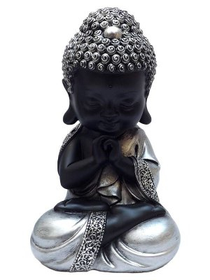 Monge Budista Orando 20cm | Resina
