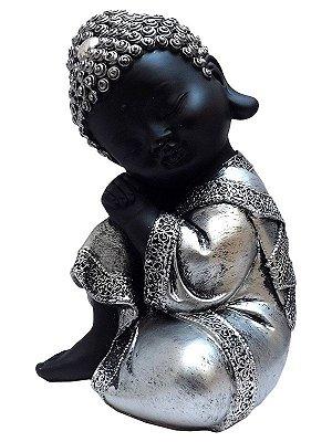 Monge Budista Relax 20cm | Resina