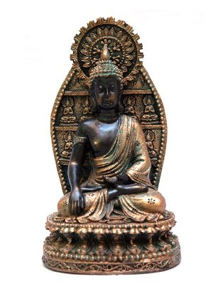 Estatueta de Buda Resina 17cm
