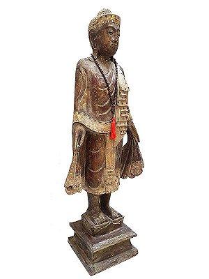 Escultura Rústica Buda 115cm - Bali