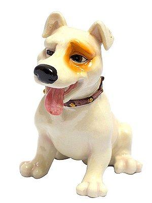 Escultura Cachorro Beagle em Resina 15cm