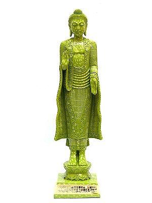 Estatueta Buda Verde 53cm