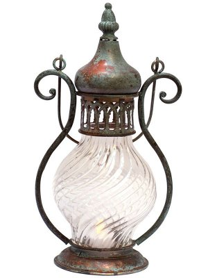 Lanterna Decorativa Rústica 36cm