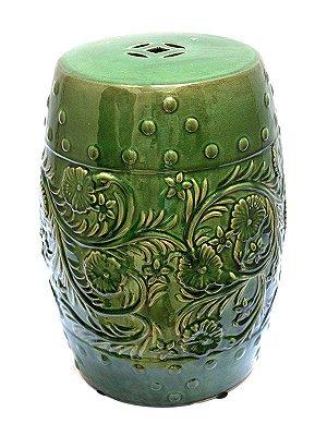 Garden Seat em Porcelana Verde