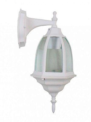 Arandela Elétrica Branca de Vidro e Alúminio