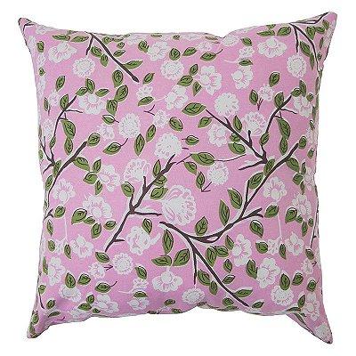 Capa de Almofada Rosa c/ Flores