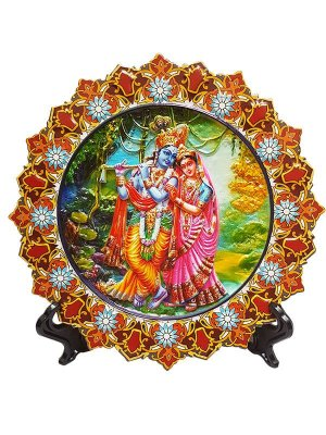 "Mandala Decorativa ""Krishna e Rahda"" - Hindu"