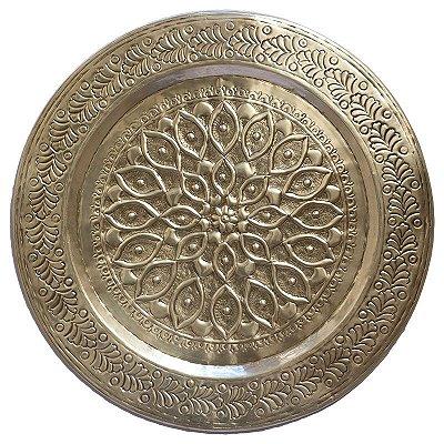 Mandala Indiana Prata em Metal
