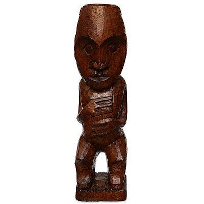 """Escultura """"Rapa Nui"""" em Madeira - Bali"""