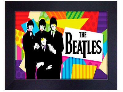 Quadro Emoldurado The Beatles 55x75cm