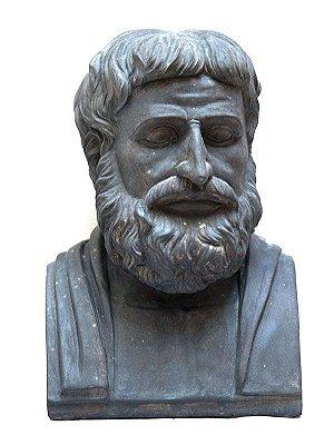 "Busto do Filósofo Grego ""Tales"" 30x24cm"