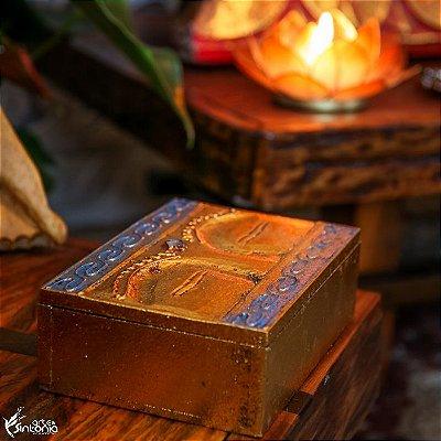 Caixa Decorativa Gold | Olhos de Buda
