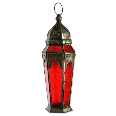 Lanterna Indiana Vermelha 43cm