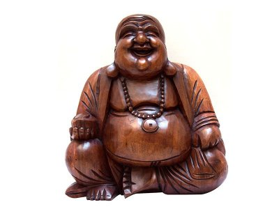 Escultura Happy Buddha 40cm - Bali