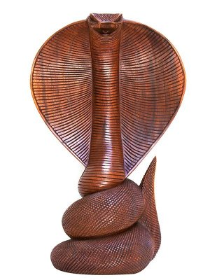 Escultura Cobra Naja 50cm - Bali