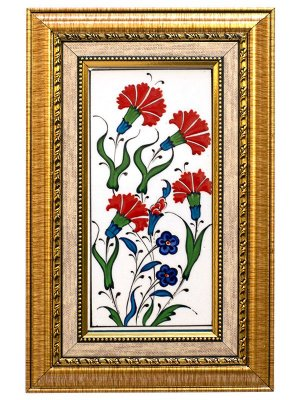 Azulejo Turco Pintado a Mão 28x18cm