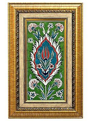 Azulejo Turco Colorido Emoldurado