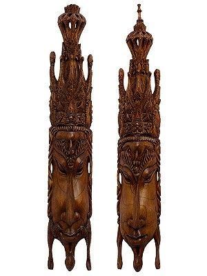 Máscaras Casal Hindu Rama Sita 100cm