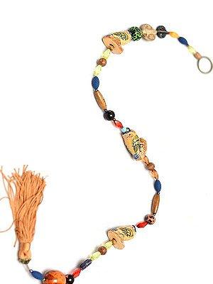 Móbile Tibetano Corujas Coloridas 70cm