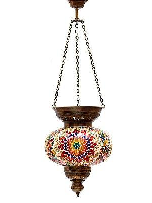 Luminária Pendente Mosaico Turco