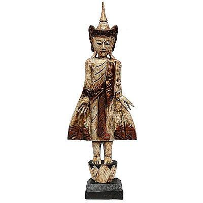 Escultura Buda Tailandês em Pé 100cm