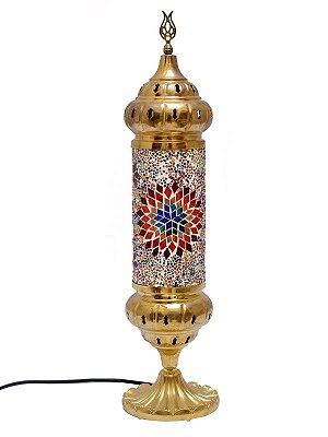 Abajur Turco c/ Mosaico 54cm