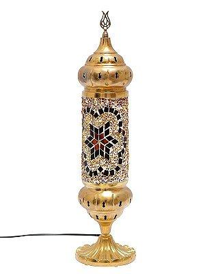 Abajur Turco Gold c/ Mosaico 43cm