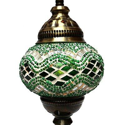 Abajur Turco Mosaico Verde 32cm