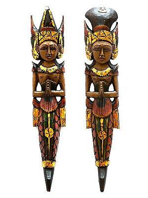 Casal Penapatã Rama e Sita 60cm - Bali