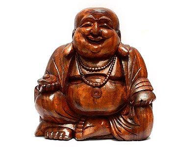 Escultura Buda Feliz 50cm - Bali