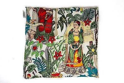 Almofada Indiana Frida Kahlo 40x40cm